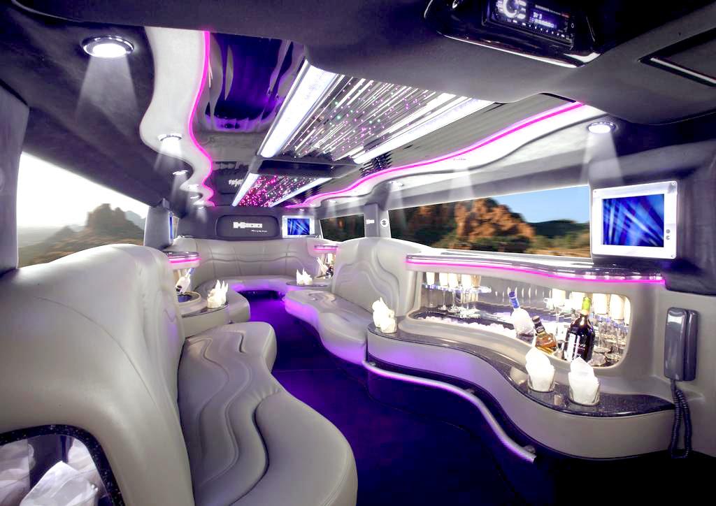 White Interior Limousine picture