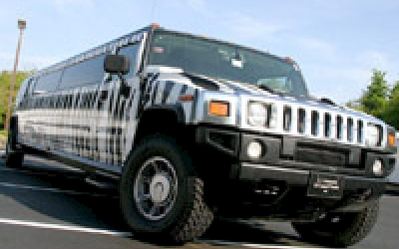 Zebra Hummer Limo West Palm Beach