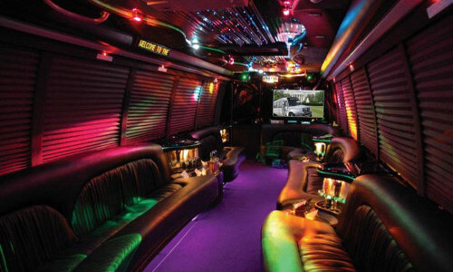 party bus miami interior