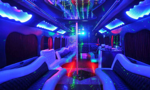 party bus miami inside