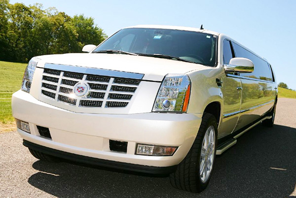 Gainesville White Escalade Limo
