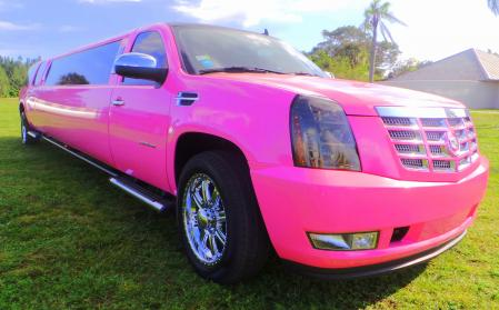 Palm Beach Pink Escalade Limo