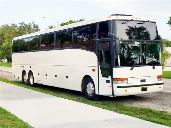 Palm Beach 55 Passenger Charter Bus