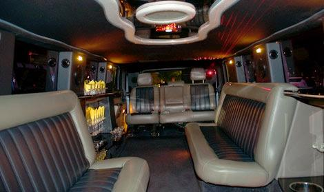 Hollywood White Hummer Limo