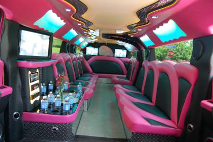 Palm Beach Pink Hummer Limo
