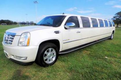 Palm Beach White Escalade Limo