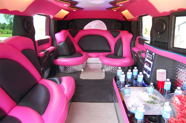 St Petersburg Pink Hummer Limo