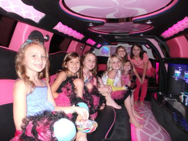 Port Orange Pink Chrysler 300 Limo
