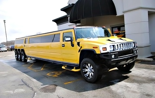 Clermont Yellow Hummer Limo