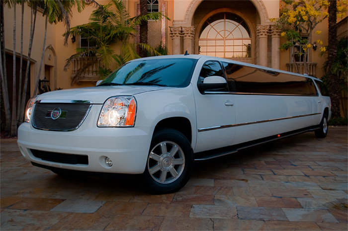 Tarpon Springs White Escalade Limo